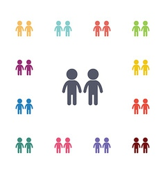 couple flat icons set vector image