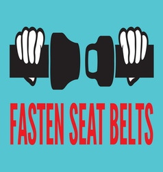 fasten seat belt3 resize vector image