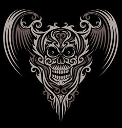 Ornate Winged Skull vector image vector image
