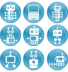 robot web icons vector image