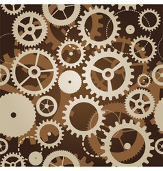 seamless pattern with cogs and gears - vector image