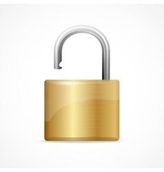 unlocked padlock gold vector image