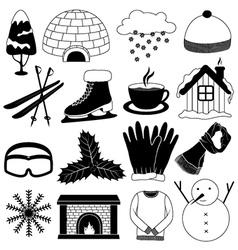 Winter Icons Collection vector image vector image