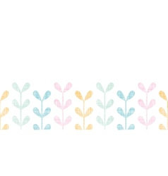 Abstract textile colorful vines leaves horizontal vector image