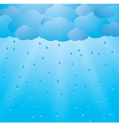 Background with clouds and rain vector image