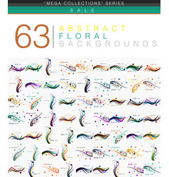 mega collection of 63 spring floral vector image vector image