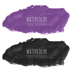 purple and black watercolor stain background vector image