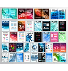 Set of Flyers background infographics brochures vector image