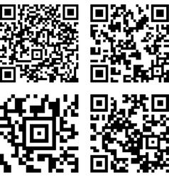 Square digital barcode vector image vector image