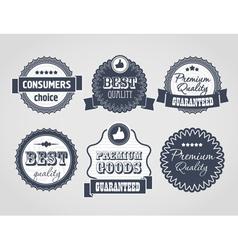 vintage labels discount labels vector image