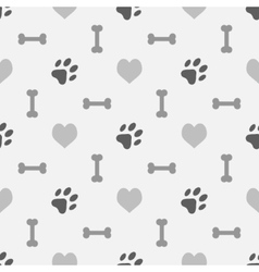 Background with dog footprint vector image