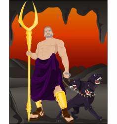Hades and Cerberus vector image vector image