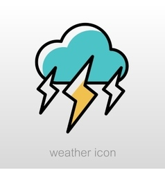 Storm Cloud Lightning icon Meteorology Weather vector image vector image