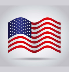 usa country flag vector image vector image