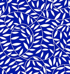 White vine leaves in a seamless pattern vector