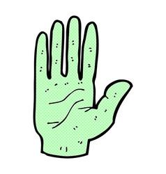 Comic cartoon zombie hand vector