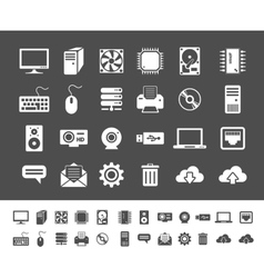 Computer and network devices vector image vector image