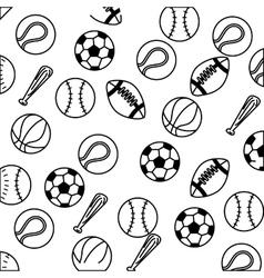 set balls sports equipment vector image vector image