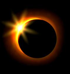 solar eclipse image astronomical phenomenon of vector image