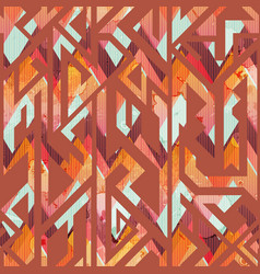 african geometric seamless pattern vector image