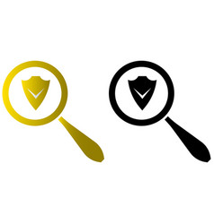 Antivirus program search icons vector