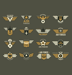 army badges air special forces emblems vector image