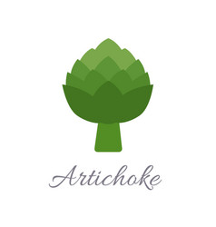 artichoke icon with title vector image
