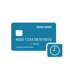 Bank card delay time icon vector