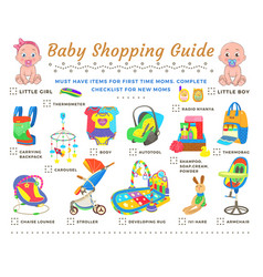 bashopping guide checklist vector image