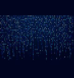 Binary code stream digital data codes hacker vector