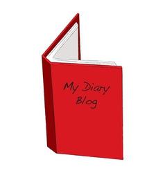 Blog diary concept vector