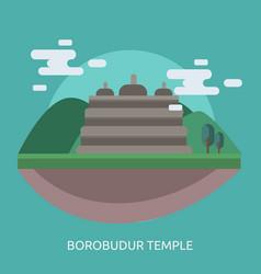 borobudur temple conceptual design vector image