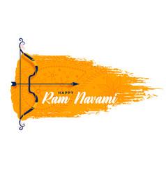 Bow and arrow design for ram navami festival vector