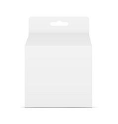 Box with hang tab vector