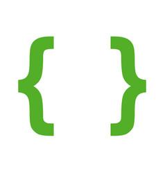 Brackets icon vector