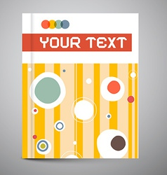 Brochure cover design layout vector