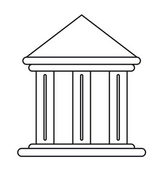 Building office bank structure outline vector