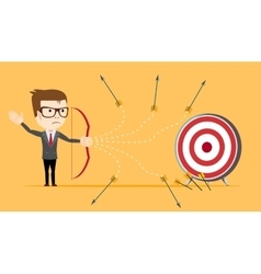 Businessman - loser shooting arrow vector