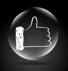 button icon vector image