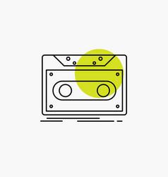 cassette demo record tape record line icon vector image