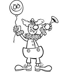 clown cartoon for coloring vector image vector image