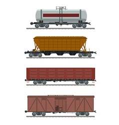 Collection of waggons vector