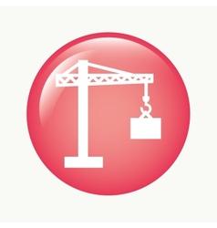 Construction crane vector