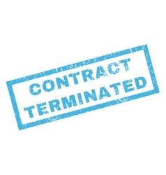 Contract Terminated Rubber Stamp vector image