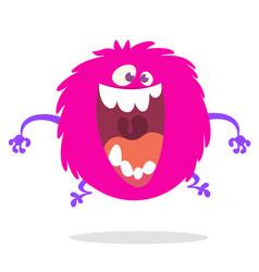 Cute cartoon monster screaming or laughing vector