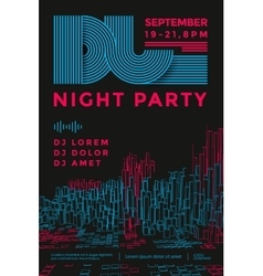 Dance night party vector