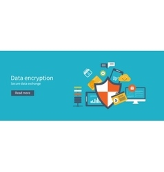 Data protection set with encryption secure data vector image