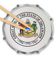 Delaware snare drum vector