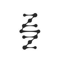 Dna logo gene isolated dark logotype on vector