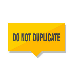 do not duplicate price tag vector image